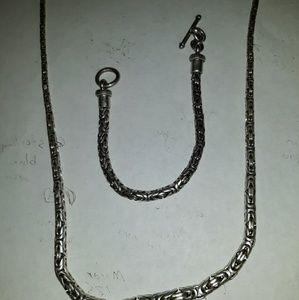 Vintage Bali Graduating Snake Necklace/Bracelet Se